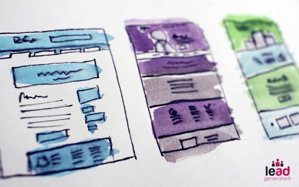 Maquettes ergonomiques pour symboliser un audit de site web d'un point de vue expérience utilisateur