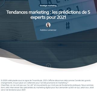 Capture d'écran d'un exemple de marketing d'influence
